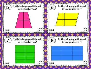 3rd Grade Geometry Task Cards 3.G: ALL Geometry Standards Task Cards 3rd Grade G