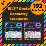 3rd Grade Geometry Task Cards ⭐ 3.G Centers