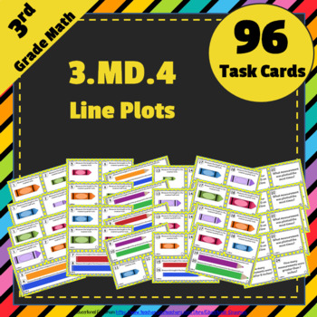 3rd Grade MD Task Cards Bundle: ALL Measurement & Data Task Cards Grade 3: 3MD