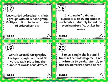 3rd Grade NBT Task Cards: ALL Numbers & Operations in Base Ten 3.NBT Task Cards