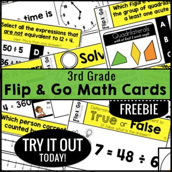 3rd Grade Math Task Cards FREEBIE