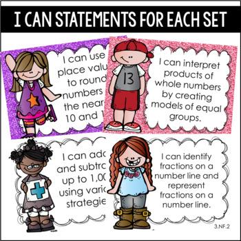 3rd Grade Math Task Cards (Growing Bundle)