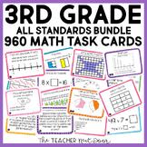 3rd Grade Math Task Cards Mega Bundle   3rd Grade Math Centers Bundle