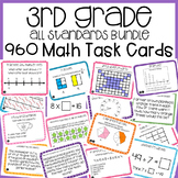 3rd Grade Math Task Cards Mega Bundle | 3rd Grade Math Cen