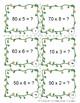 3rd Grade Math Task Cards Multiply whole tens TEKS Spring