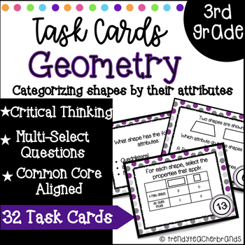 3rd Grade Math Task Cards: Attributes of Polygons | 3.G.1