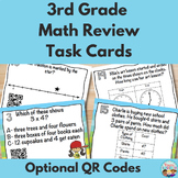 3rd Grade Math Test Prep Task Cards With Optional QR Codes