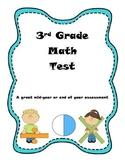 3rd Grade Math Test