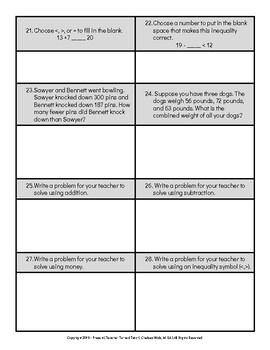 3rd Grade Math Test: Adding and Subtracting Multi-Digit Numbers