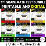 3rd Grade Digital and Printable Math Test Bundle - Distanc
