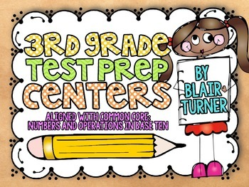 3rd Grade Math Centers {CCSS Numbers and Operations in Base Ten}
