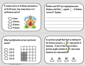 3rd Grade Math Test Prep & Enrichment 2 Pack with Multiplication Stair Strips