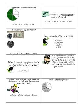 3rd Grade Math Test Prep Flashcards