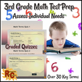 3rd Grade Math Test Prep Graded Quizzes Final Assessment