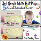 3rd Grade Math Test Prep Graded Quizzes Final Assessment
