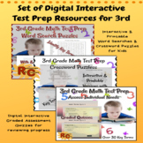3rd Grade Math Interactive Test Prep Key Terms Bundle With