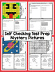 3rd Grade Math Test Prep Mystery Pictures - All Standards Mega Bundle