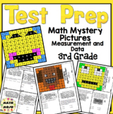 3rd Grade Math Test Prep Mystery Pictures - Measurement and Data