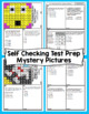 3rd Grade Math Test Prep Mystery Pictures - Number and Operations in Base Ten