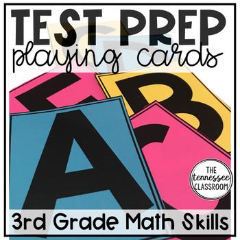 3rd Grade Math Test Prep Playing Cards