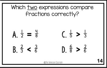 3rd Grade Math Test Prep Activity