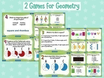 3rd Grade Math Test Prep PowerPoint Games: 11 Games & 110 Problems in All