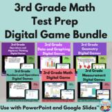 3rd Grade Math Test Prep Digital Game Bundle: 12 Games | D