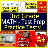 3rd Grade Test Prep Math Practice Spiral Review CCSS Smarter Balanced