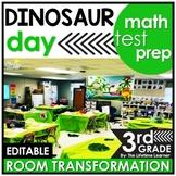 3rd Grade Math Test Prep Review  - Dinosaurs Real World Math Activity