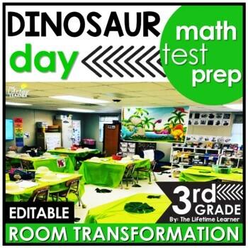 3rd Grade Math Test Prep Review  - Dinosaurs Classroom Transformation