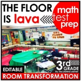 3rd Grade Math Test Prep Review  - The Floor is Lava Real World Math Activity