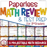 Math Review 3rd Grade: Paperless Math, SBAC Prep, PARCC Practice, Test Prep Game