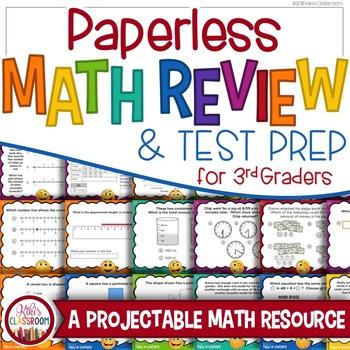 Math Review 3rd Grade: Paperless Math, Test Prep Game