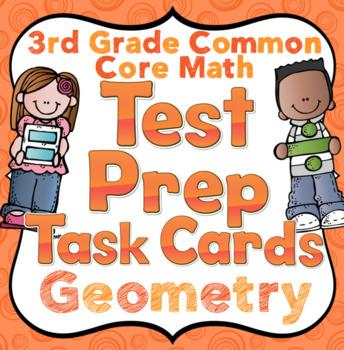 3rd Grade Math Test Prep Task Cards (Geometry)