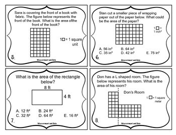 3rd Grade Math Test Prep Task Cards (Measurement and Data)