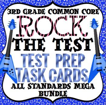 Math Test Prep Task Cards (Rock the Test) 3rd Grade