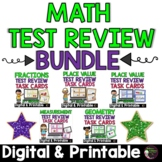 3rd Grade Math Test Review Task Card Bundle | Digital and