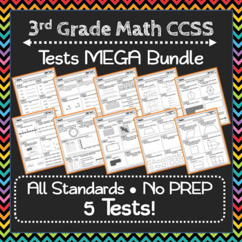 3rd Grade Math Tests: 3rd Grade Common Core Math Test MEGA Bundle