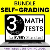 3rd Grade Math Tests - Digital & Printable - ALL STANDARDS