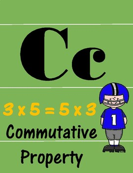 3rd Grade Math Theme Alphabet (football)
