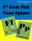 3rd Grade Math Theme Alphabet (football)