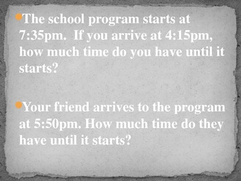 3rd Grade Math Time Word Problems PP-review