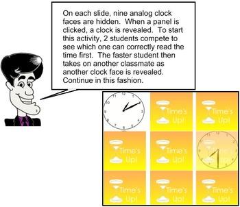 3rd Grade Math:  Time's Up! 3.MD.A.1
