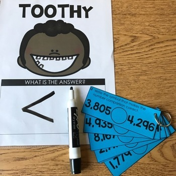 3rd Grade Math Toothy® Task Kits | Games | Centers | Spiral Review Bundle
