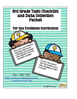 3rd Grade Math Topic Checklist for the Envisions Curriculum