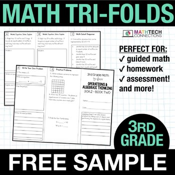 3rd Grade Math TriFolds - 5 FREE Booklets
