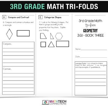 3rd Grade Math TriFolds - 5 FREE Booklets for Guided Math or Math Assessments