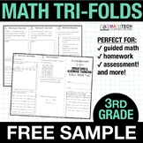 3rd Grade Math TriFolds - 5 FREE Booklets for Guided Math