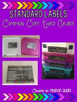 3rd Grade Math Tub Labels