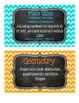 3rd Grade Math Tub Labels (with Common Core Standards) - Chevron & Chalkboard!